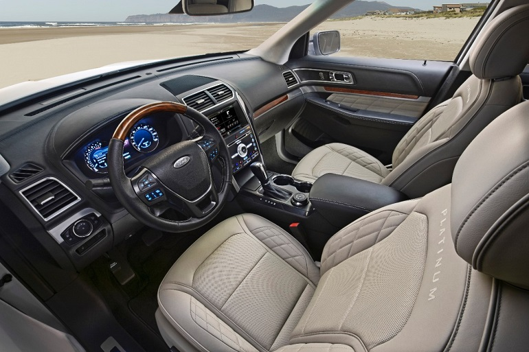 The Ford Explorer Has A Very Modern Cabin Is Like Edge Available With